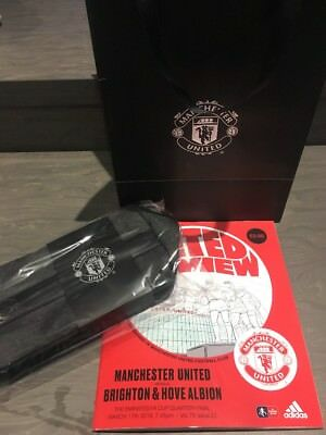 Manchester United Vs Brighton Programme Bag And Wash Bag