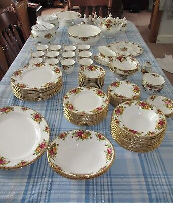 "Royal Albert ""Old Country Roses"" China. (Cups, Plates, Bowls, Tea, Butter, etc.)"
