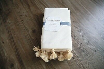 pottery barn kids Emily & Meritt Tassel Crib Skirt new original $99 gold