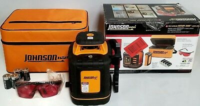 Johnson Self Leveling Rotary 2000 Laser Level Professional Series 40-6527 Used