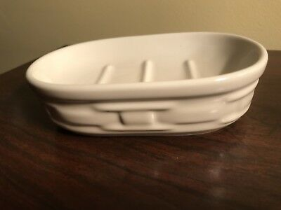 Longaberger Woven Traditions Ivory Soap Dish