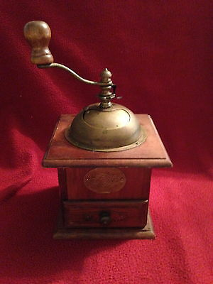 Coffee Kaffee Grinder With Drawer Brass Pull Handle Brass Dome Germany