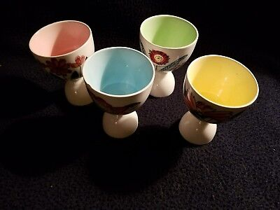 BIGSUNNY Set of 4 Egg Cups Soft Boiled Egg Holder Container Stand