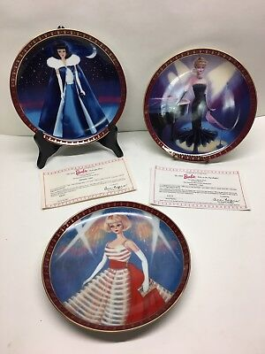 Danbury Mint Barbie High Fashion Collector Plate Set lot of 3 Plates & DANBURY MINT Barbie Collector Plate Lot Of 8 - $37.99 | PicClick