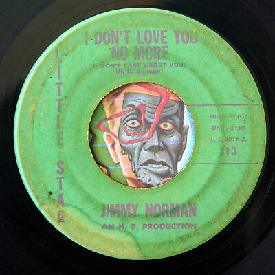 HEAR Jimmy norman 45 I Dont Love You No More/Tell Her For Me R&B soul rocker