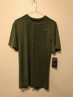 a10a3efd Nike Dry Max Men's Short Sleeve Training Top S Olive Shirt Running  832842-331