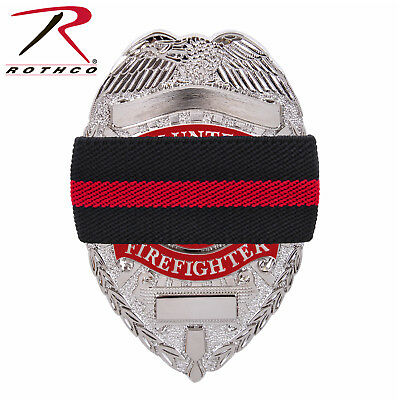 Thin Red Line Firefighter Mourning Bands 12 Pack Fire Badge Memorial Bands 1006