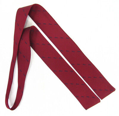 Pp&l Womens Dark Cherry Red Necktie Tie 48 Inch X 2 Inch Vintage
