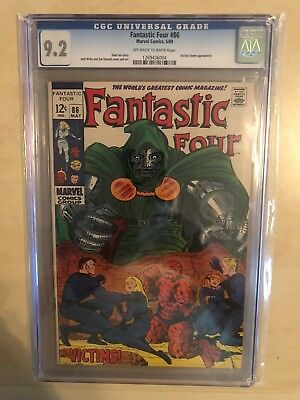 Fantastic Four 86 !! Cgc 9.2 !! Classic S.a. !! Awesome Book !! Dr Doom !!