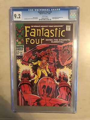 Fantastic Four 81 !! Cgc 9.2 !! Classic S.a. !! Awesome Book !! White Pages !
