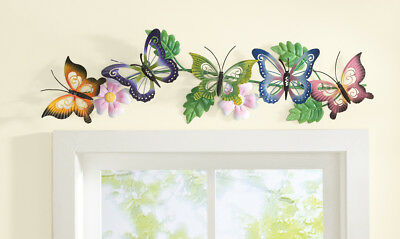 Erfly Fl Metal Wall Art Hanging Decor Erflies Beautiful