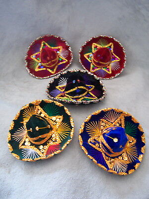 Set of 5 Mexican mini Charro Hats,Party favors,Decorations,Sombreros,MARIACHI