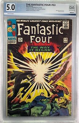 FANTASTIC FOUR #53 Aug 1966 BLACK PANTHER THE CLAW  - Graded PGX 5.0 VG/FN