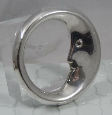 Vintage Tiffany & Co Sterling Silver Man in the Moon Baby Rattle SF120