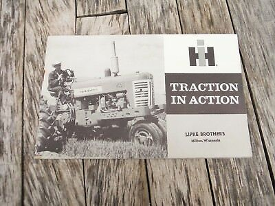 Vintage International Harvester Farmall 450 Tractor Traction In Action Brochure