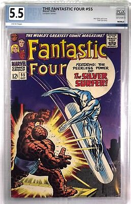 FANTASTIC FOUR #55 Oct 1966 SILVER SURFER  - Graded PGX 5.5 FN- CLASSiC COVER
