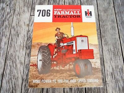 VINTAGE INTERNATIONAL HARVESTER McCormick FARMALL 706 TRACTOR BROCHURE