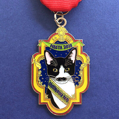 2018 Cat Fiesta Medal The Cannoli Fund Mustache Rose Window San Antonio SA 300
