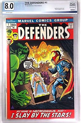 DEFENDERS #1 Aug 1972 PREMIER ISSUE - PGX Rated 8.0 VF  Silver Age Key