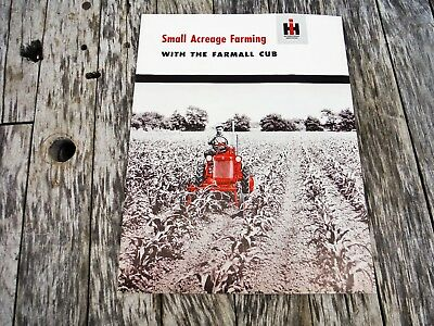 Vintage International Harvester Farming With The Farmall Cub Tractor Brochure