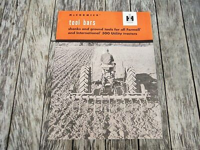 Vintage International Harvester Mccormick Tool Bars For 300 Tractors Brochure