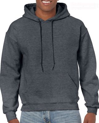 Dark Heather Adult Gildan Plain Hooded Heavy Blend Pullover mens hoodie
