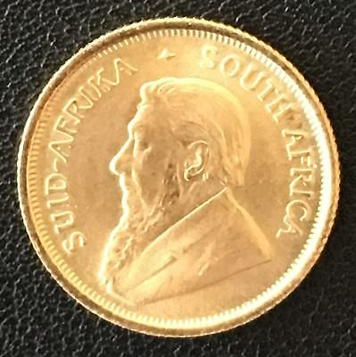 1982 South Africa 1/10th Oz Gold Krugerrand In Choice Unc. KM #105
