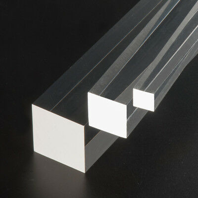Acrylic Clear Perspex Square Rod Dia.20x20mm 1M length Gloss finished FREE SHIP