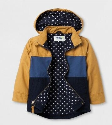 e9606bd29 TODDLER BOYS GENUINE Kids from OshKosh Canvas Colorblock Jacket - Gold/Blue