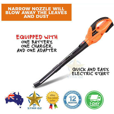 Cordless Electric Leaf Blower Rechargeable Garden Tool 20v Battery Included