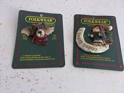 Lot of 2 Folkwear from Boyds Bears & Friends Pins #2669 and #26321