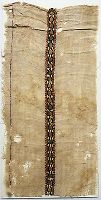 12-13C Antique Textile Fragment - Dyeing and Weaving