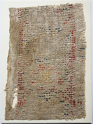 13-15C Antique Textile Fragment -Dyeing and Weaving 5