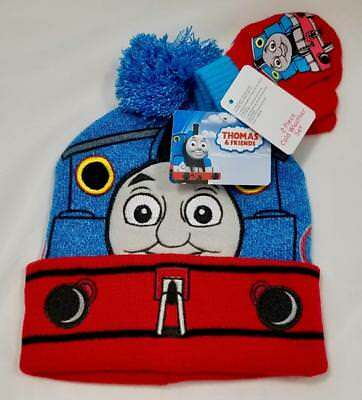 Thomas The Tank Train Engine & Friends 2 Piece Cold Weather Gloves & Beanie Hat