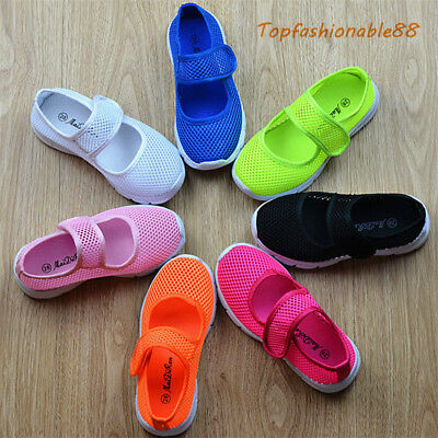 Hot Sale Breathable Kids girls Casual Shoes Mesh Student Sports Flats Shoes Size