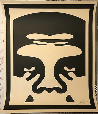Shepard Fairey 3 - Face CREAM Icon Series Prints 24x36 Signed Poster Banksy Kaws