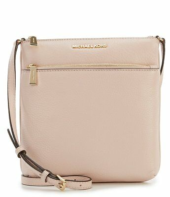0d15201c24b1 NWT MICHAEL MICHAEL KORS Riley Small Pebbled-Leather Crossbody Soft Pink  SEALED