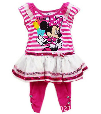 New 2PC Infant Baby Girls Minnie Mouse Dress Top+Pant Outfit Clothes  sc 1 st  PicClick & NEW 2PC INFANT Baby Girls Minnie Mouse Dress Top+Pant Outfit Clothes ...