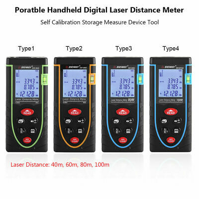 40-100M Digital Laser Distance Meter Télémètre Étalonnage Surface Volume Mesure