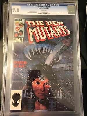 New Mutants #18 CGC 9.6, not 9.8! First appearance of Warlock, Key, Movie, Cable