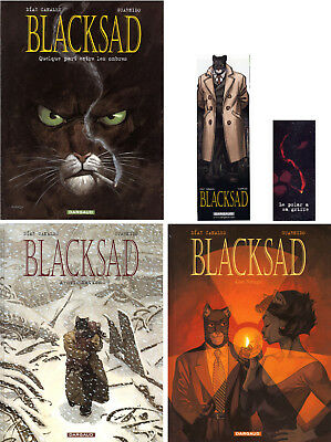 Guarnido Blacksad T.1(Pas Eo)+T.2 +3 -Editions Originales-Etats Neufs+Collectors