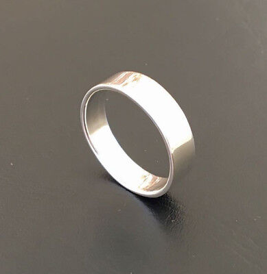 925 Sterling Silver Plain Thick Band Solid 6mm Ring Wedding Men Women Size 7 -13