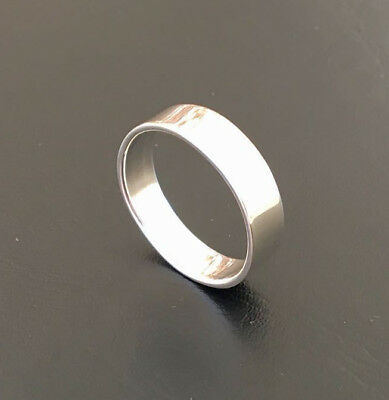 Sterling Silver Plain Thick Band 6mm Ring Wedding Men Women Sz 7 8 9 10 11 12 13