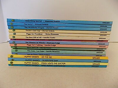 lot of jim henson's muppets and muppet babies hardcover books