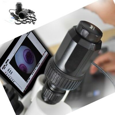 USB Microscope Astronomical Telescope 8MP Camera Eyepiece w/ 7 Adapter Rings