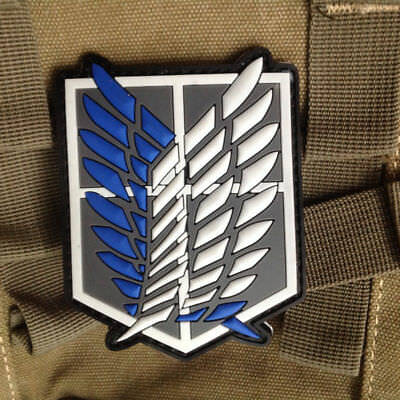 Embroidery Patch Anime Attack on Titan Scouting Legion Recon Corps Badge Sewing