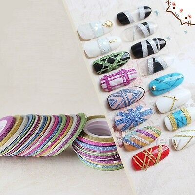 1mm/2mm/3mm Nail Art Striping Tape Line DIY Adhesive Decal Manicure Tool