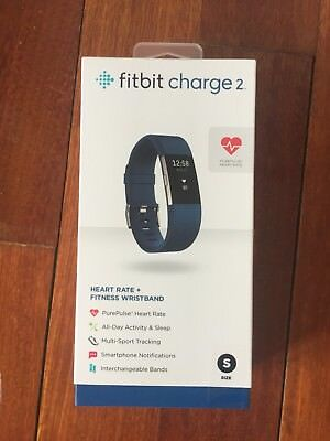 Fitbit Charge 2 Fitness Wristband SizeS (Blue) ~ NEW