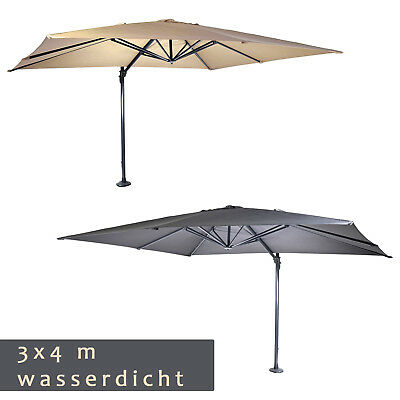 wasserdichter luxus ampelschirm 3 x 4 m sonnenschirm 360 drehbar 50 uv schutz eur 549 00. Black Bedroom Furniture Sets. Home Design Ideas
