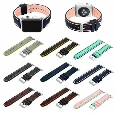 For Apple Watch Replacement Silicone Nike Sports Band Series 3/2/1 + New Design